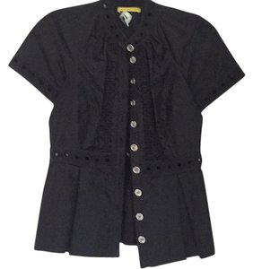 Catherine Malandrino Button Down Shirt Black
