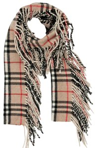 Burberry Beige, black multicolor Burberry Nova Check print Happy Scarf