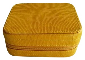 Z Gallerie NEW Z Gallerie Yellow Leather Jewelry Box