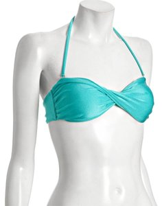 ViX NWOT VIX JADE GREEN TWIST BANDEAU BIKINI SWIM SUIT TOP SZ SMALL