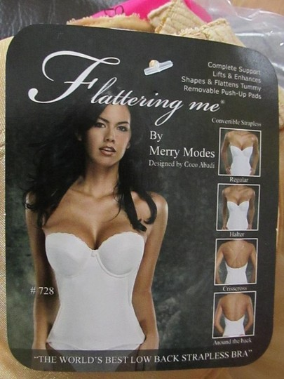Merry Modes Nude Flattering Me Collection Low Back Longline Bra Standard 728s 42d