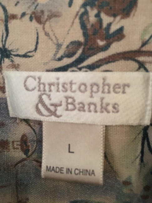 Christopher & Banks Multi cream, blues and greens Jacket