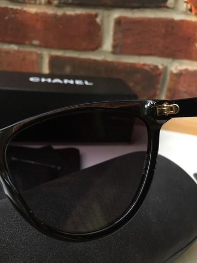 Chanel CHANEL 5341 Black Cat-Eye Pearls Gold Chain CC Earrings $1000 COVETED!