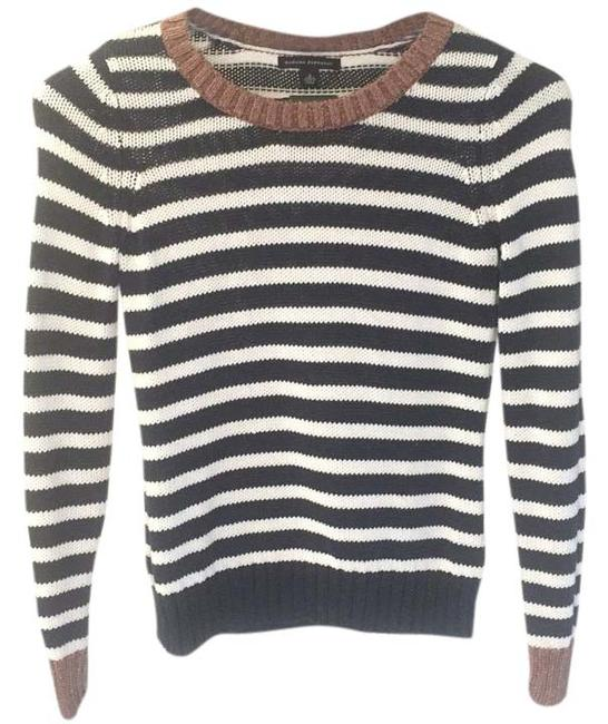 Preload https://item5.tradesy.com/images/banana-republic-navy-and-white-sweaterpullover-size-2-xs-15984559-0-1.jpg?width=400&height=650