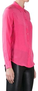 Equipment Silk Top Pink