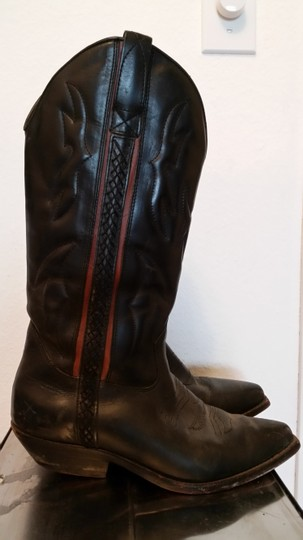 Cole Haan Cowboy Western Black with red detailing Boots