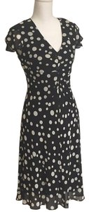 S.L. Fashions short dress Black & White Polka Dots Flaired Petite on Tradesy