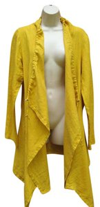 Bryn Walker Linen Lagenlook Spring Summer Marigold Yellow Jacket