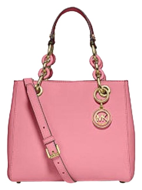 Item - Cynthia Small North South Misty Rose Leather Satchel