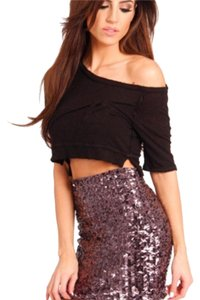 Sacred Style Mini Skirt Purple sequin