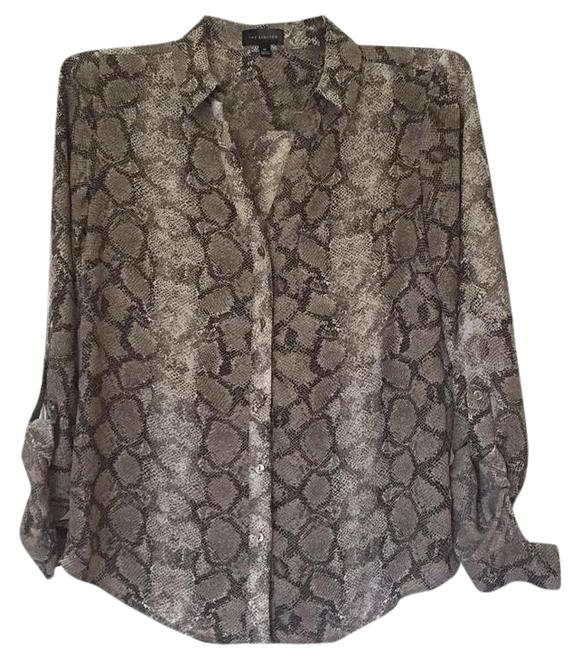 The Limited Button Down Shirt Brown and black