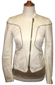 A|X Armani Exchange White/ gold hardware Jacket