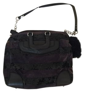 Juicy Couture Velour Sparkle Fun Sequin Tote in Black and Navy Blue