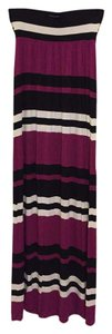 Magenta, Black & White Maxi Dress by INC International Concepts Striped Maxi Summer