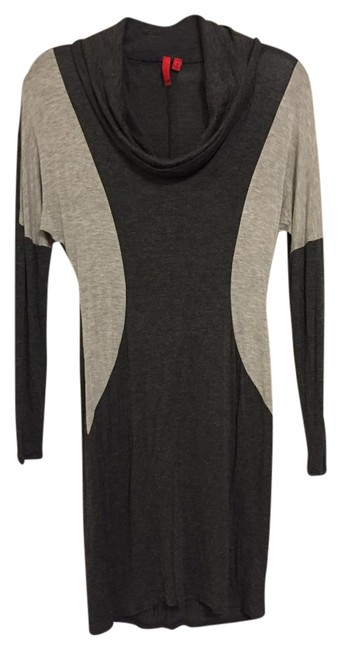 Preload https://img-static.tradesy.com/item/15986215/548-gray-saks-5th-avenue-and-charcoal-cowl-neck-long-sleeve-msrp-above-knee-short-casual-dress-size-0-1-650-650.jpg