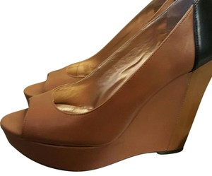BCBG Paris brown and black Wedges
