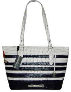 Brahmin Asher Leather New With Tags Tote in Stonewash