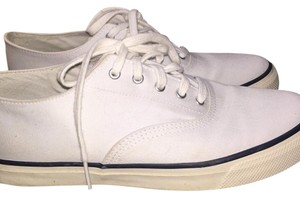 Sperry Laces Boat White Flats