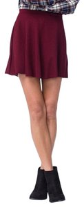 H.I.P. Casual Rib Ribbed Soft Skirt Burgundy