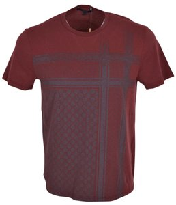 Gucci Men's T Shirt Burgundy
