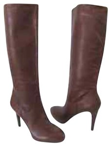 Enzo Angiolini Stiletto Leather Brown Boots