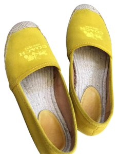Coach Yellow Flats
