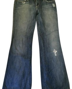 JOE'S Jeans Vintage Flare Distressed Embroidered Trouser/Wide Leg Jeans