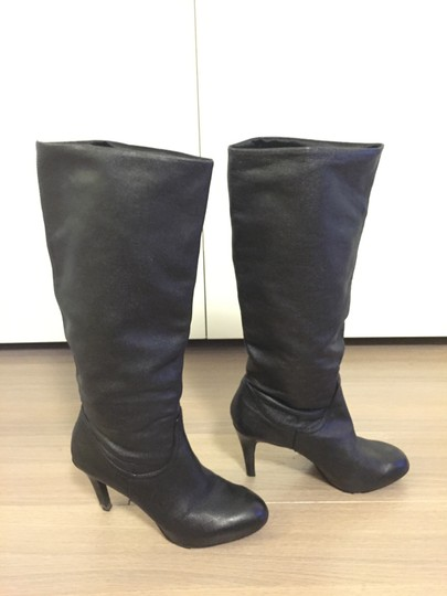 Enzo Angiolini Stiletto Leather Black Boots