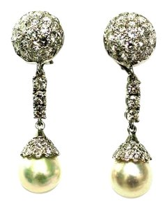 Dungling Stunnind Drop Pear Diamond Earrings