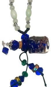 Other New Perfume Bottle Necklace Cobalt Blue Adjustable Length Murano Glass J538