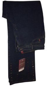 Olsen Europe Kenya Denim Boot Cut Jeans-Dark Rinse