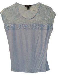 Forever 21 Lace Back T Shirt blue