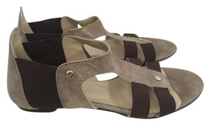 Attilio Giusti Leombruni Metallic Gray and Brown Sandals