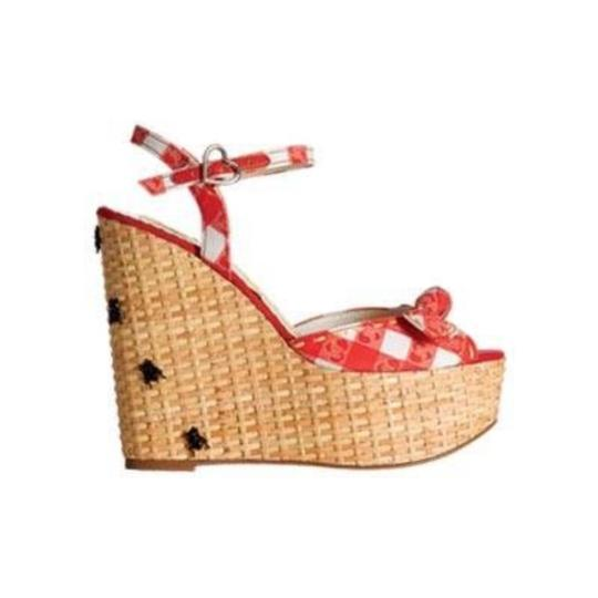 Harajuku Lovers Red & white Wedges