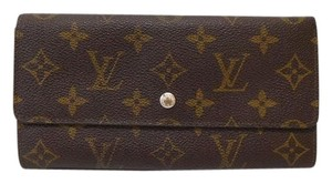 Louis Vuitton 100% Authentic Louis Vuitton Brown Monogram Sarah Wallet with Coin Purse