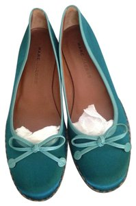 Marc Jacobs Satin Teal Flats