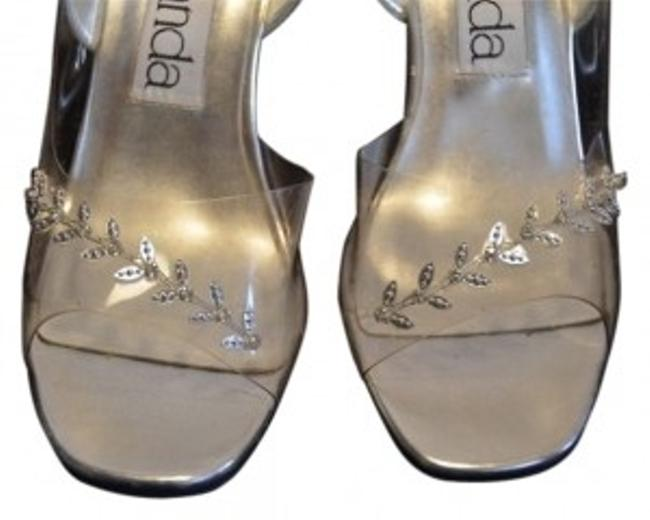 Item - Glass Clear Cinderella Silver Formal Shoes Size US 7 Regular (M, B)