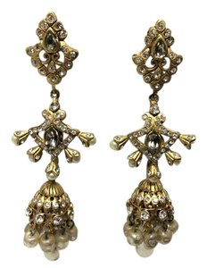 Other Satin Hamilton Gold Taj Mahal Chandeliers Pearls