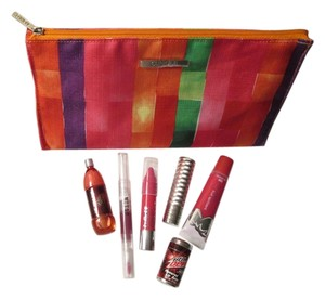 Clinique Brand New Clinique Bundle deal 7 pc. includes: 1 Large pretty Clinique cosmetic bag, and Clinique Lip stick and Clinique Cherry chubby stick, and other all about lip products