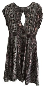 Marabelle short dress black, pink and cream Print Black on Tradesy