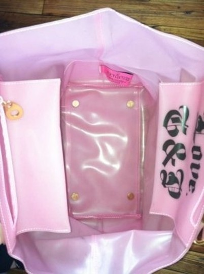 Juicy Couture Jelly Tote Pink Beach Bag