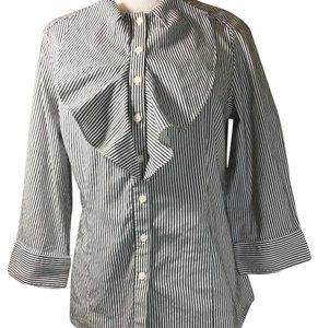 Peter Nygard Button Down Shirt Black & Gray