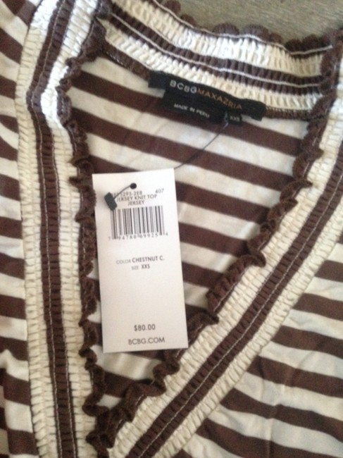 BCBGMAXAZRIA Top Chestnut