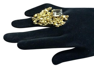 Articulated Satin Hamilton Gold Nugget Ring