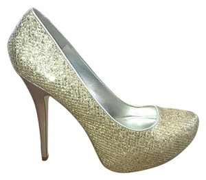 ALDO Sparkly silver and gold Platforms