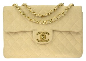 Chanel Quilted Chain Gold Shoulder Bag