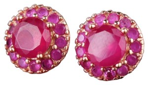 Gorgeous Pink Sapphire 18k Rose Gold Filled Stud Earrings