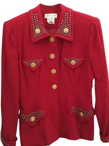 Ellen Tracy Jacket Red Blazer