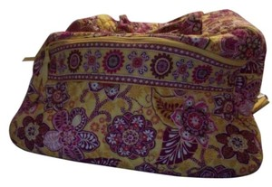 Vera Bradley Yellow and Pink Travel Bag