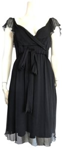 Diane von Furstenberg short dress Black Silk Chiffon Classic on Tradesy